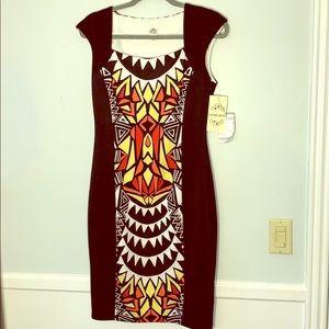 NWT Sangria Black/Coral Dress